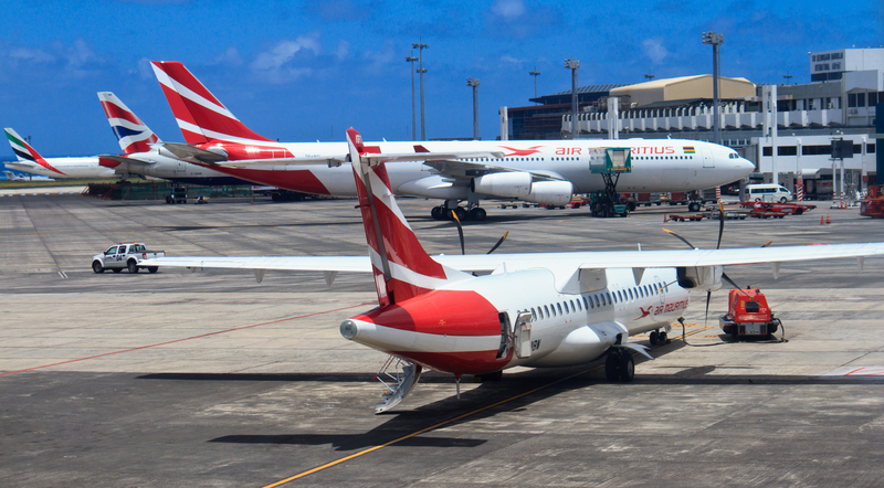 MRU Airport is the main hub of the national carrier Air Mauritius.